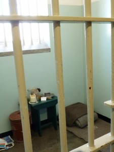 Mandela's cell on Robben Island--where he spent 19 years.
