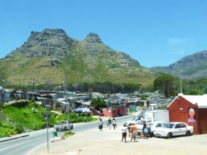 Township outside Cape Town. January 2014.