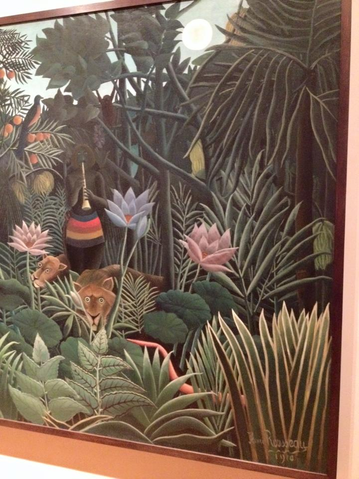 Portion of The Dream by Henri Rousseau (MOMA)